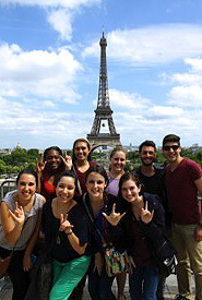 Students at the Eiffel Tower