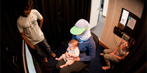 Research using eye-tracking with a baby