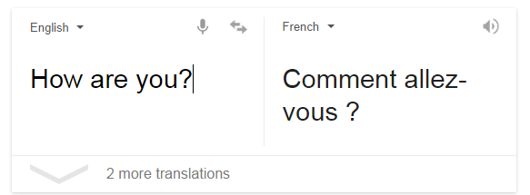 How are you doing in french translation